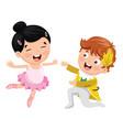 of children dancing vector image vector image