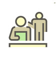 person reading document icon design for business vector image vector image