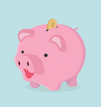 piggy bank with coin savings concept vector image vector image