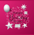 pink happy birthday background vector image vector image