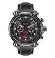 realistic clock watch sport chronograph black vector image