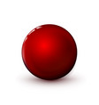 red glossy sphere polished ball mock up clean vector image vector image