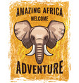 retro poster template with african vector image