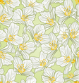 Seamless texture jasmine spring background vector image vector image