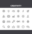 set 24 creativity and idea web icons in line vector image