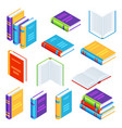 set isometric book icons vector image