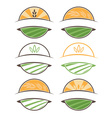 Set of farm labels vector image vector image