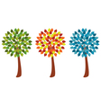 set trees vector image vector image