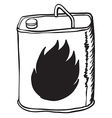 simple black and white gasoline can vector image