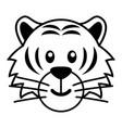 simple cartoon a cute tiger vector image vector image