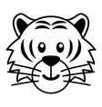 simple cartoon of a cute tiger vector image vector image