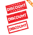 Stamp sticker discount tag collection - - E vector image vector image