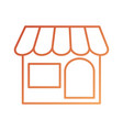 store front exterior delivery online symbol vector image
