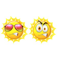Sun with facial expression vector image