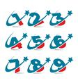 Swoosh Patriotic Logo Numbers vector image vector image