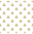 Traffic cone pattern cartoon style vector image vector image