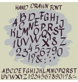 Vintage alphabet hand drawn font vector image vector image