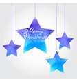watercolor Christmas background with blue stars vector image vector image