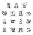 Accessories for longboards line icons set vector image vector image