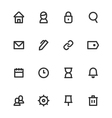 basic ui outline icon set vector image