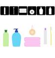 bathroom stuff set vector image vector image