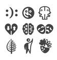 bipolar icon vector image vector image