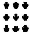 black footprints rhinoceros vector image