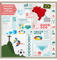 Brazil infographics statistical data sights vector image