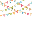 Bunting vector image vector image