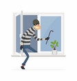 burglar - cartoon people characters vector image