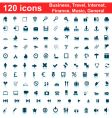 business travel general icon set vector image vector image
