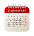 calendar 2015 - september vector image