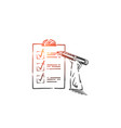 checking to-do list planning activities concept vector image