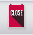 Close shopping door signs board vector image