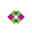 colored shape triangle logo vector image