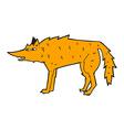 comic cartoon fox vector image vector image