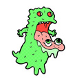 comic cartoon gross ghost vector image vector image