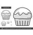 Cupcake line icon vector image vector image