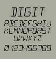 digit font vector image vector image