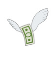 dollar with wings vector image