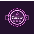 Double Frame Casino Purple NEon Sign vector image vector image