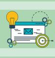 email target idea innovation digital marketing vector image vector image