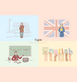 english classes great britain sightseeing tour vector image vector image