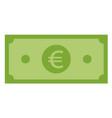 euro icon on white background flat style euro vector image vector image