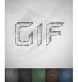 GIF icon Hand drawn vector image vector image