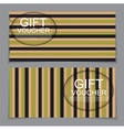 Gift Voucher Template with abstract background vector image vector image
