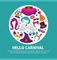 great carnival party advertisement banner vector image vector image