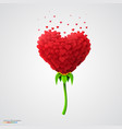 heart-shaped flower built of small hearts vector image vector image