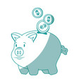 isolated piggy bank vector image vector image