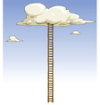 ladder to the clouds vector image vector image